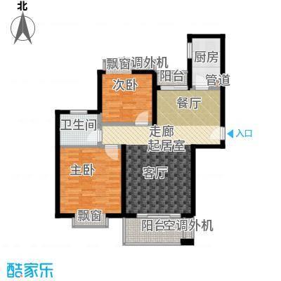 江南太阳城89.56㎡D2面积8956m户型