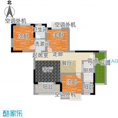 滨江翡翠城89.87㎡户型