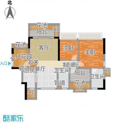 乐湾首府103.68㎡3、4栋1号房户型