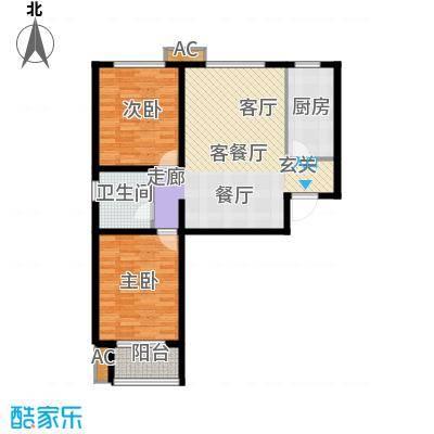 鑫丰近水庭院89.51㎡2号楼D户型