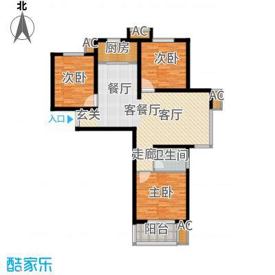 鑫丰近水庭院112.95㎡1号楼2号楼F户型
