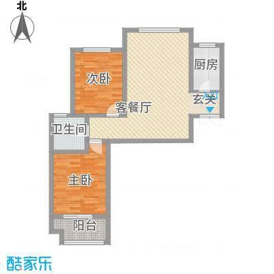 双清别院88.81㎡3C户型