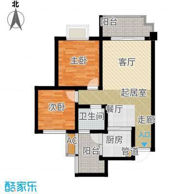 兴发金域丽江73.27㎡G1户型