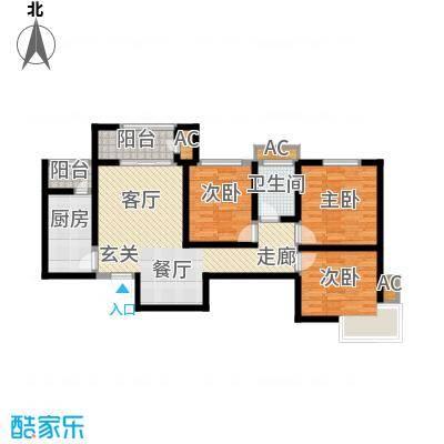 清渭公馆102.07㎡8号楼A户型