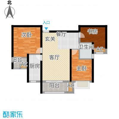 清渭公馆102.00㎡11号楼E户型