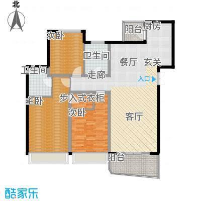 国际中港城147.47㎡5-6栋4-12F/C、D室户型