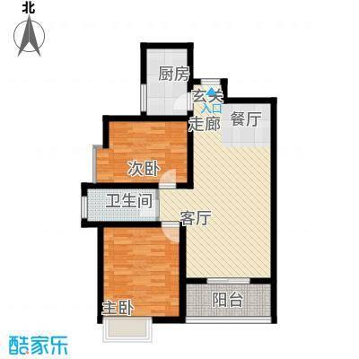 先河国际社区92.04㎡西区T1户型