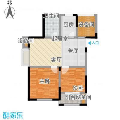 玫瑰恬园87.00㎡高层小A5户型