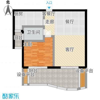 新红厦公寓70.00㎡房型户型