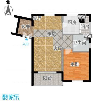 老西门新苑80.00㎡房型户型