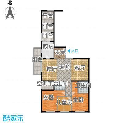 老西门新苑160.00㎡房型户型