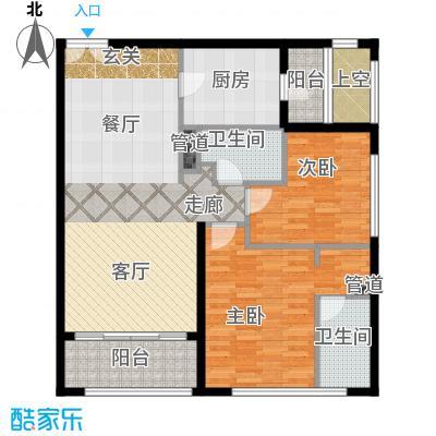 老西门新苑110.00㎡房型户型