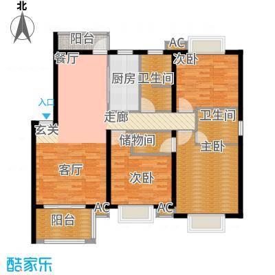 新青浦佳园119.91㎡房型户型