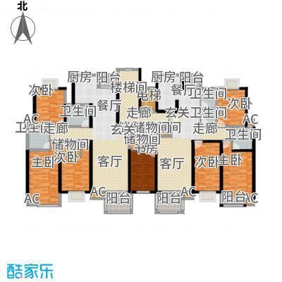 新青浦佳园K型标准层平面图户型