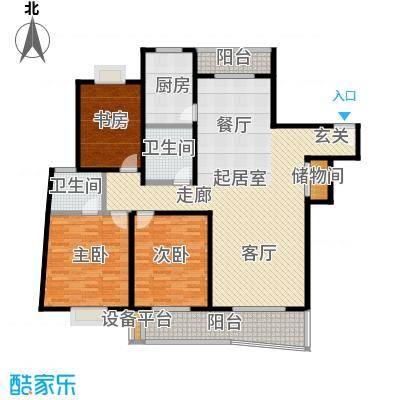 华亭绿景苑142.40㎡房型户型