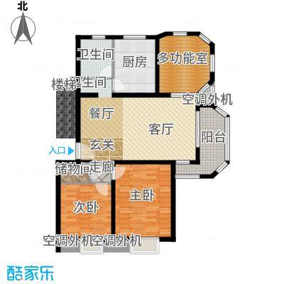大华颐和华城一期109.30㎡房型户型