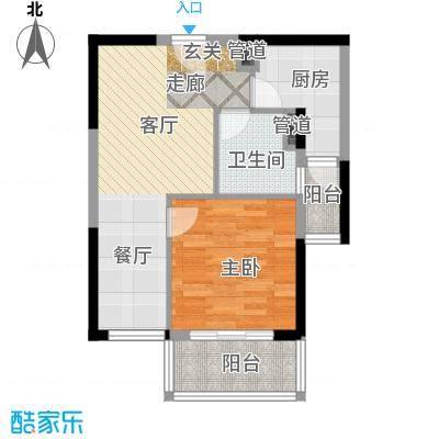 金沙嘉年华四期54.00㎡房型户型
