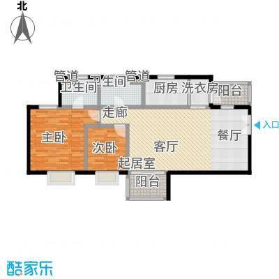 嘉富丽苑90.00㎡房型户型