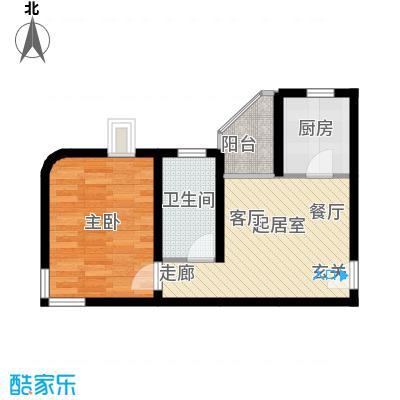 大上海城市花园52.09㎡房型户型