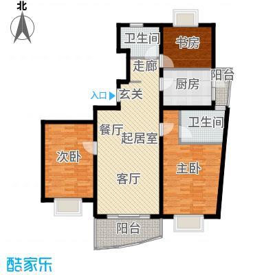 大上海城市花园136.10㎡房型户型
