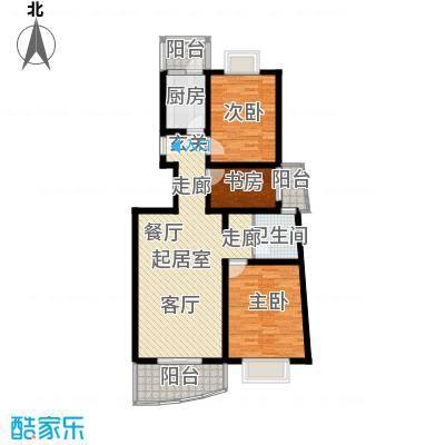 大上海城市花园97.30㎡房型户型