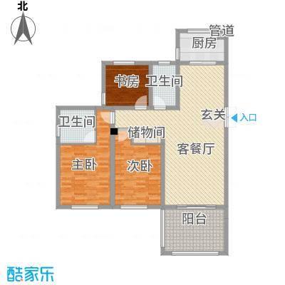 嘉盛龙庭142.00㎡高层B1户型