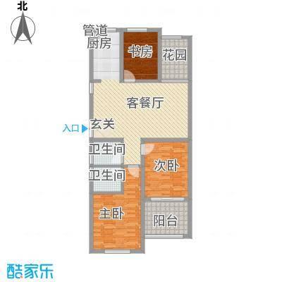 嘉盛龙庭120.00㎡高层B3户型