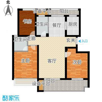 锦绣江南118.00㎡3#、6#、9#小高层F户型