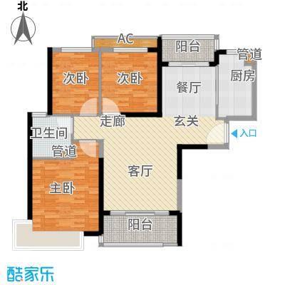 恒大御景111.58㎡12号楼标准层4户型