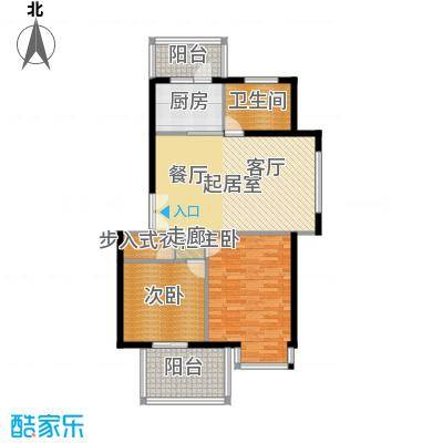 中星新塘家园88.70㎡D22面积8870m户型