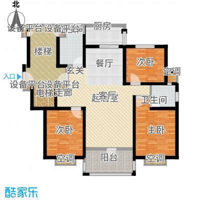 盛泰丹桂苑136.00㎡标准层A1面积13600m户型