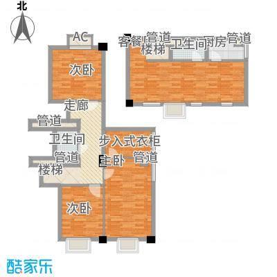 梅龙枫香庭院135.00㎡复式A4面积13500m户型