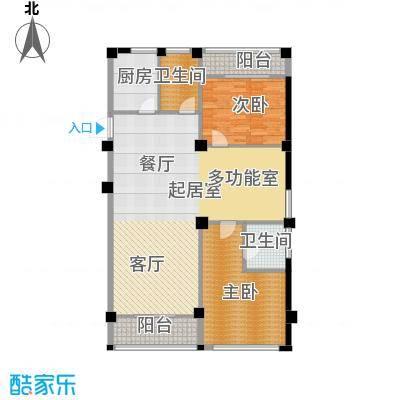 梅龙枫香庭院129.00㎡标准层B面积12900m户型