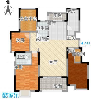 可逸兰亭128.00㎡128平米3房2厅2卫户型3室2厅2卫