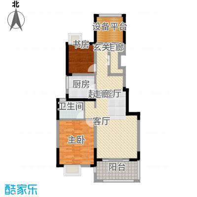 可逸兰亭92.00㎡92平米2房2厅1卫户型2室2厅1卫