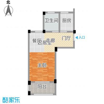 绿城乌镇雅园56.00㎡56平米1室1厅1卫户型1室1厅1卫
