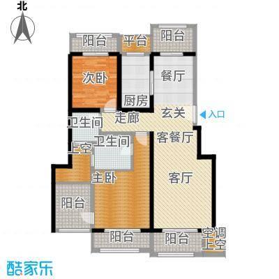 悦上海130.00㎡130平米F2户型2室2厅2卫