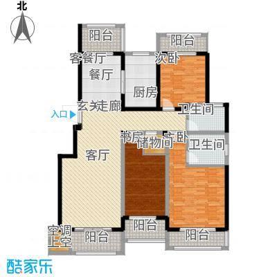 悦上海150.00㎡150平米F1户型3室2厅2卫