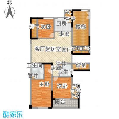 宁海世贸中心138.00㎡标准层A面积13800m户型