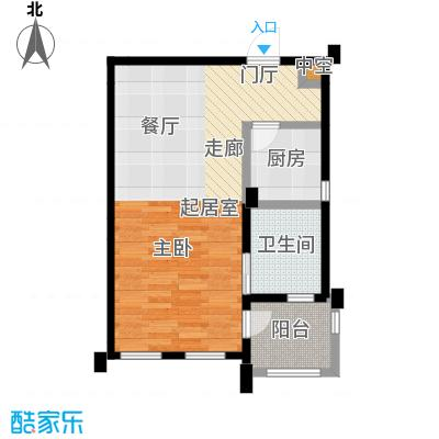绿城乌镇雅园56平米1室1厅1卫户型1室1厅1卫