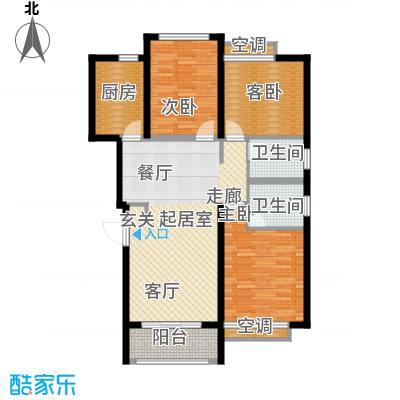 鑫苑世家98.00㎡C户型3室2厅2卫