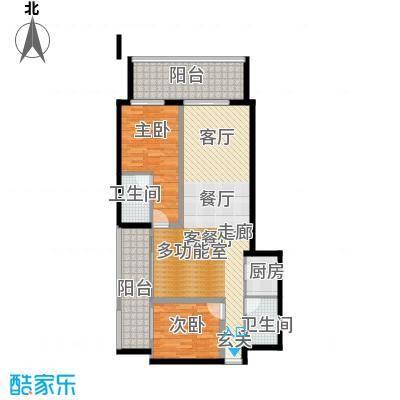 悉尼绿地中心101.00㎡高层户型2室2厅2卫