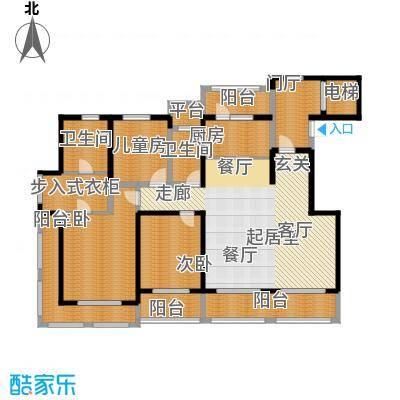 悦上海185.00㎡185平米F3户型3室2厅2卫