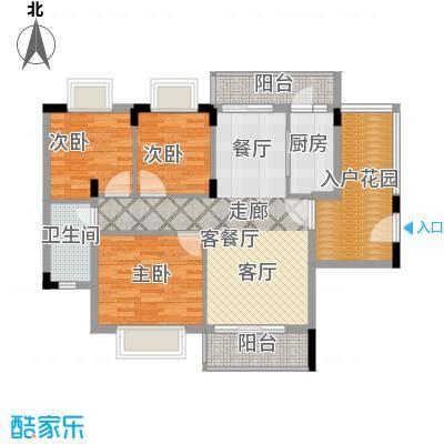 梦云南雨林澜山89.83㎡梦云南・雨林澜山高层E1户型