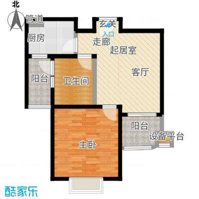 鑫都城云天绿洲56.00㎡户型