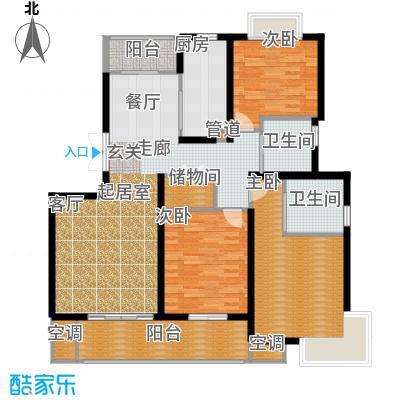 宏润韶光花园128.97㎡房型户型