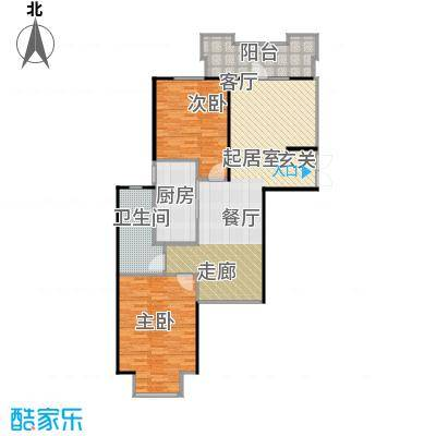 绿城・上海香溢花城100.00㎡房型户型10室