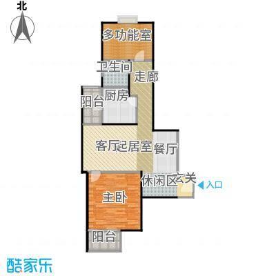绿城・上海香溢花城87.00㎡户型2室2厅1卫