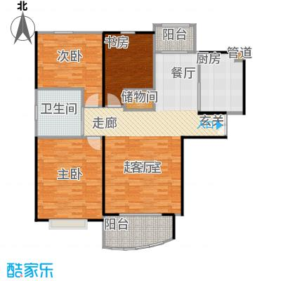 秋月枫舍二期103.00㎡房型: 三房; 面积段: 103 -134 平方米;户型