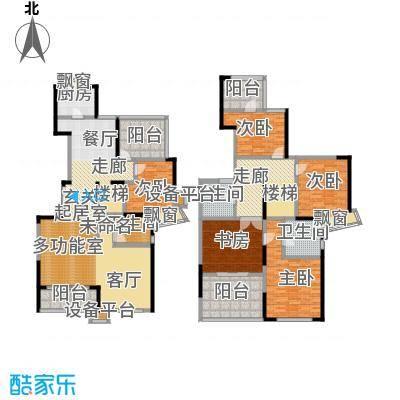 河滨围城(二期)房型复式面积段户型5室3卫1厨